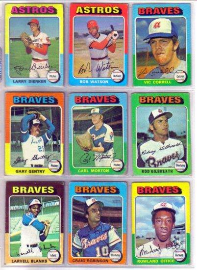 1975 TOPPS LARVELL BLANKS #394 BRAVES