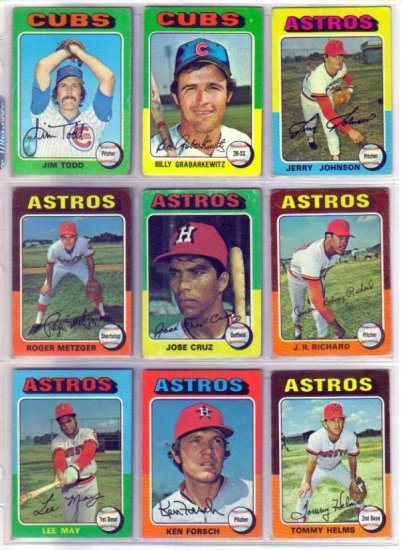 1975 TOPPS TOMMY HELMS #119 ASTROS
