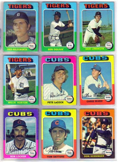 1975 TOPPS PETE LaCOCK #494 CUBS