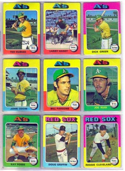 1975 TOPPS JOE RUDI #45 ATHLETICS