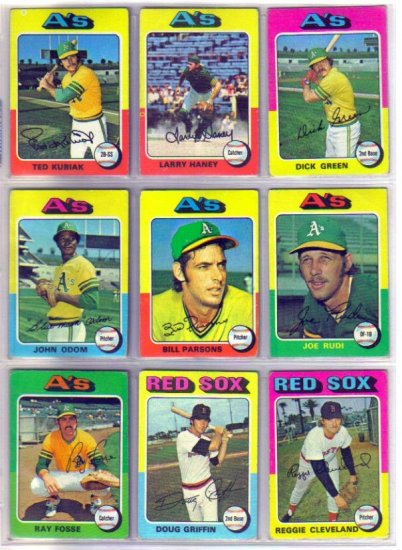 1975 TOPPS BILL PARSONS #613 ATHLETICS