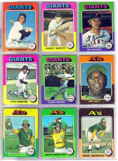 1975 TOPPS DAVE HAMILTON #428 ATHLETICS
