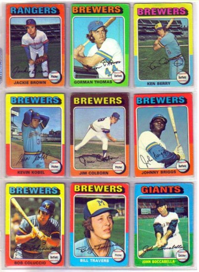 1975 TOPPS JOHNNY BRIGGS #123 BREWERS