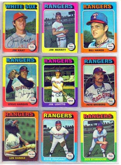 1975 TOPPS BILL HANDS #412 RANGERS