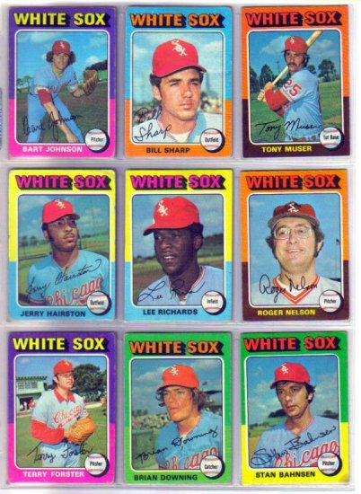 1975 TOPPS JERRY HAIRSTON #327 WHITE SOX