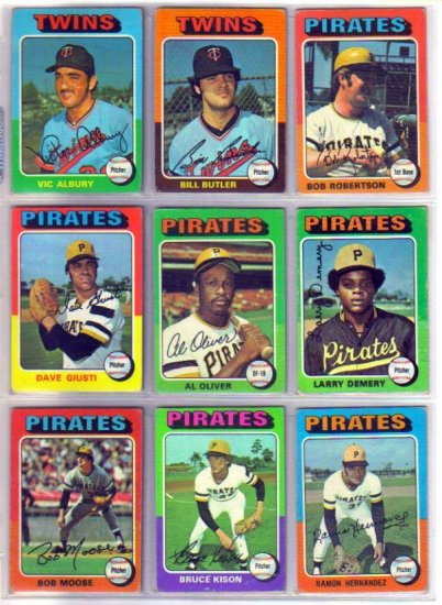 1975 TOPPS BOB MOOSE #536 PIRATES