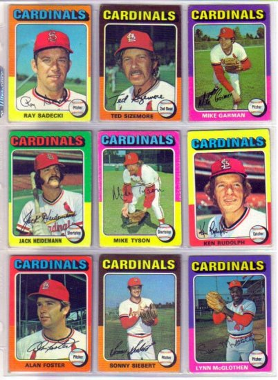 1975 TOPPS MIKE TYSON #231 CARDINALS