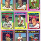 1975 TOPPS TED SIZEMORE #404 CARDINALS
