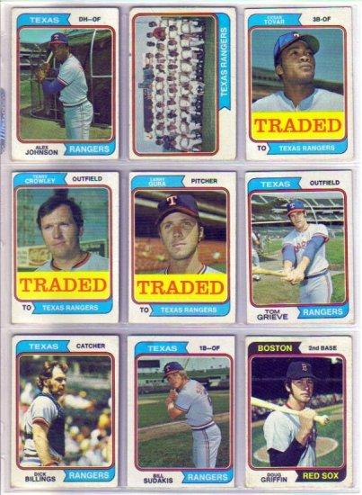 1974 TOPPS TEXAS RANGERS #184 TEAM CARD