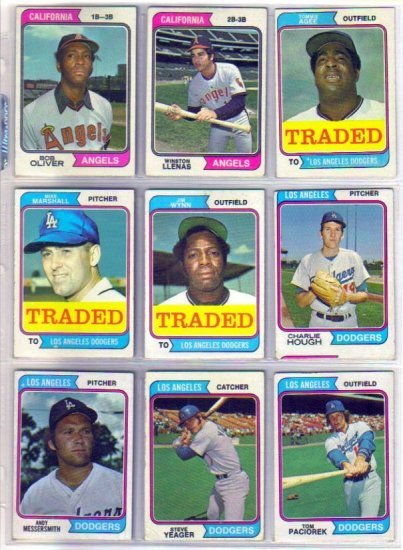 1974 TOPPS TRADED TOMMIE AGEE #630T DODGERS