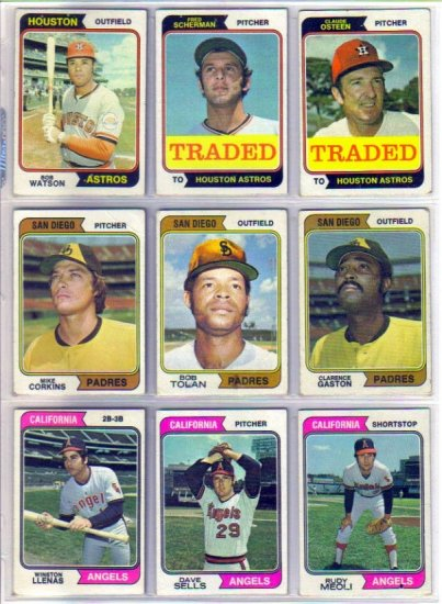 1974 TOPPS DAVE SELLS #37 ANGELS