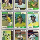 1974 TOPPS BILL NORTH #345 ATHLETICS