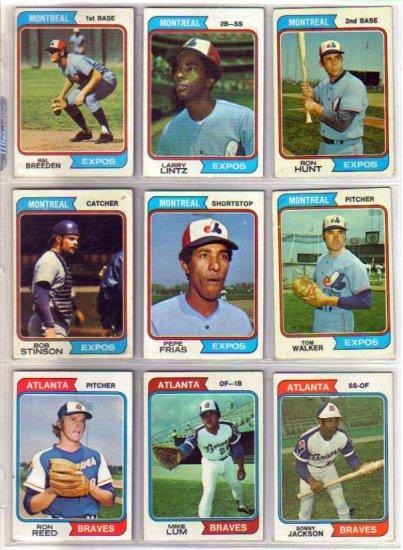1974 TOPPS MIKE LUM #227 BRAVES