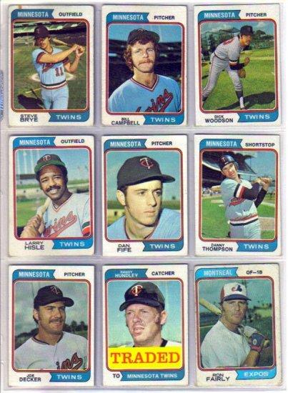 1974 TOPPS DANNY THOMPSON #168 TWINS