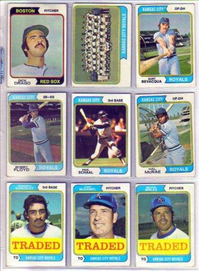 1974 TOPPS BOBBY FLOYD #41 ROYALS
