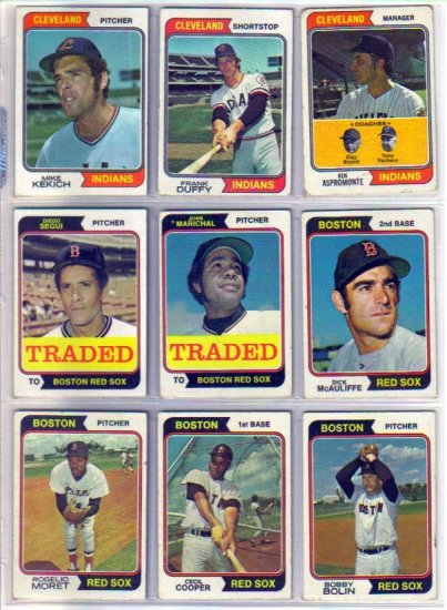 1974 TOPPS ROGELIO MORET #590 RED SOX