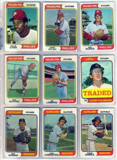 1974 TOPPS JIM LONBORG #342 PHILLIES