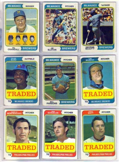 1974 TOPPS TRADED FELIPE ALOU #485T BREWERS