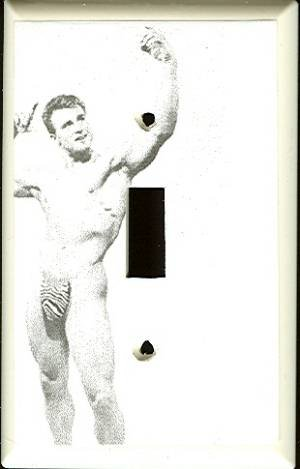 Vintage Beefcake In Posing Strap Switchplate Cover
