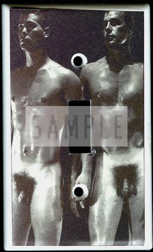 Vintage Male Nudes Posing Switchplate Cover