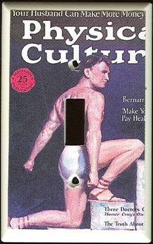 Vintage Physical Culture Magazine SWITCHPLATE COVER
