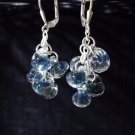 Ocean view effervescent boro glass earrings