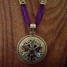 Medusa gemstone medallion necklace