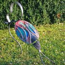 Garden Beetle - Red&Blue - handmade artwork