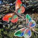 Garden Butterflies 2 - 51 Inch (130 cm) - Pottery&Metal - handmade artwork