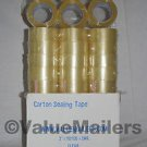 "144 Rolls Clear 2ml Box Carton Sealing Tape 2x110 Yards 2"" x 110 Yards Per Roll"