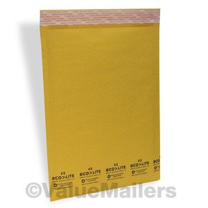 100 Mailers 50 ea #2 8.5x12, 50 #3 8.5x14.5 Kraft Bubble Padded Envelopes Bags