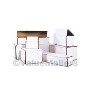 100 - 10 x 3 x 2 White Corrugated Shipping Mailer Packing Box Boxes