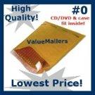 125 #0 6x10 DVD CD BUBBLE MAILER PADDED ENVELOPE 6 x 10