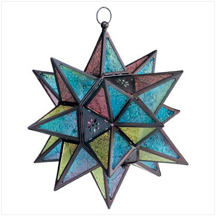 Morroccan-Style star Lantern - SS34690