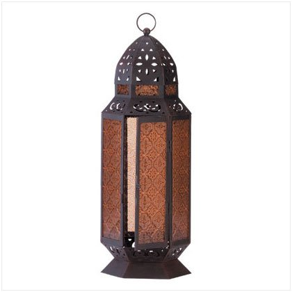 Tall Morroccan-Style Candle Lantern - SS34691