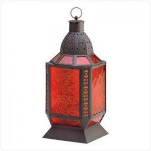 Amber Square Moroccan Lantern - SS38372