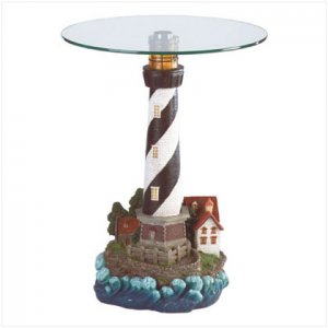 FREE SHIPPING Lighthouse Table with Light - SS34737