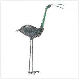 FREE SHIPPING - Iron Standing Crane Statue - SS38273