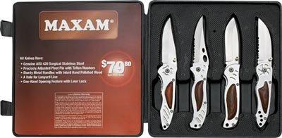 4pc Liner Lock Knife Set - SKMX4