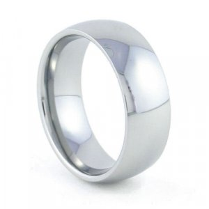 Helix - 8mm Rounded Tungsten Carbide Band