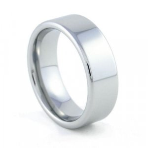 Legacy - 8mm Flat Tungsten Carbide Band