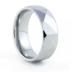 Calypso - 8mm Faceted Tungsten Carbide Band