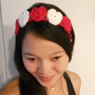 Crochet Hart Headband