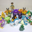 Pokemon action figures lot - 17 pokemon and Brock Jakks Pacific pocket monsters