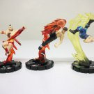 Street Fighter Heroclix lot of 3 - Zangief 005 Fei Long 011 Guile 018 Hero Clix
