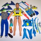 "Action Man 12"" Scuba Diver / Aqua Wind Surfer - with LOTS of accessories Hasbro"