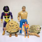Miscellaneous Lot of 5 figures - Food Fighters A-Team Barnyard Commandos Sky Commanders 1980s