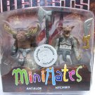 Antalor & Nychirix - Battle Beasts Minimates figures set moose bat TRU Diamond 2012