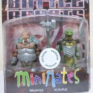 Gruntos & Scalpus - Battle Beasts Minimates figures set walrus snake TRU Diamond 2012