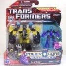 Transformers Sledge w/ Throttler Power Core Combiners minicons Hasbro 2010